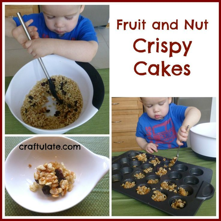 Kid-Made Fruit and Nut Crispy Cakes from Craftulate