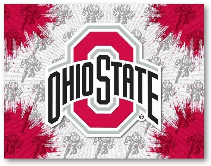 Ohio State Buckeyes D1 Printed Logo Canvas.  Visit SportsFansPlus.com for Details.