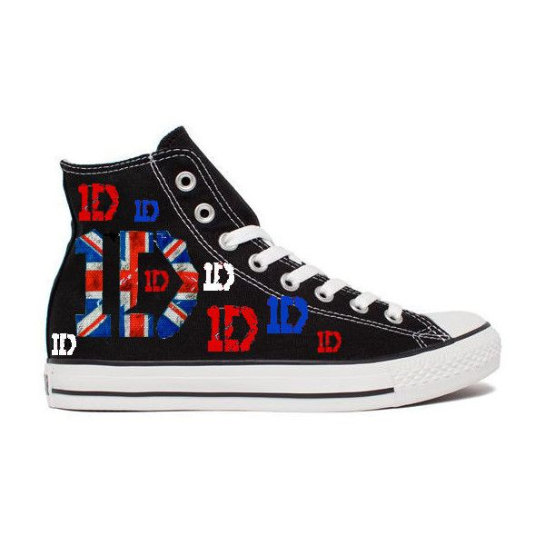 One Direction 1D Converse / Chucks ($115) ❤ liked on Polyvore