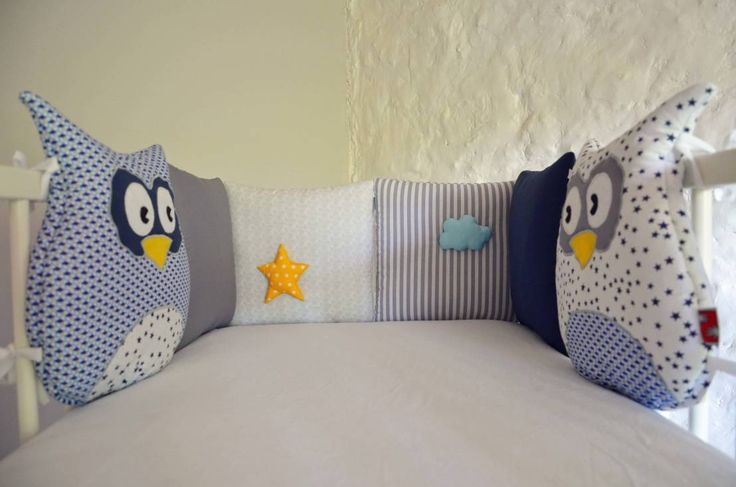 Tour de lit bébé - Collection 'HouHou' pour petit garçon par ShanouK, les…