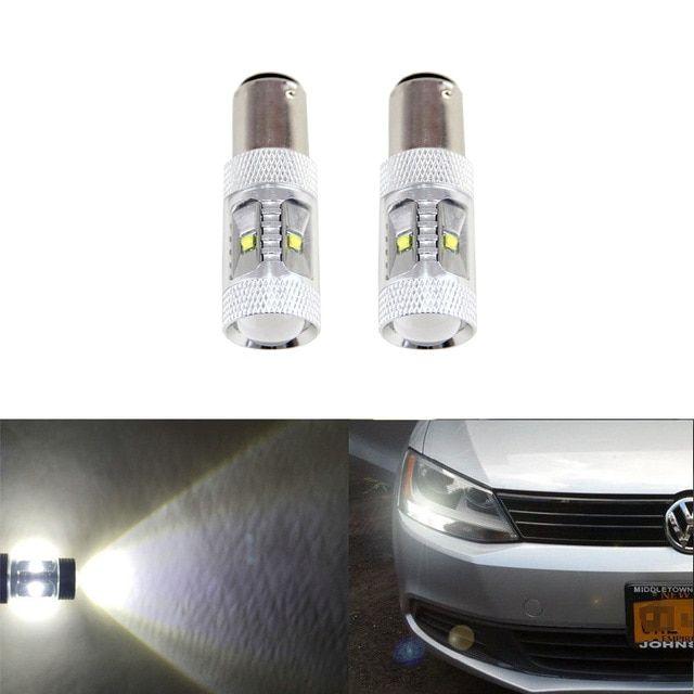 2pcs Canbus White Led Bulb Fit For Volkswagen Vw Jetta Mk6