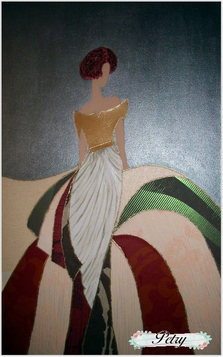 Menina tela y pintura.: