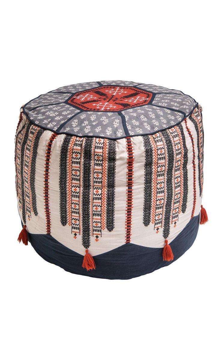 Jaipur Pouf Sittpuff Svart Floor Pillow Floorpillow