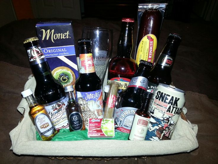Mans gift basket for Christmas. Filled with all Christmas ...