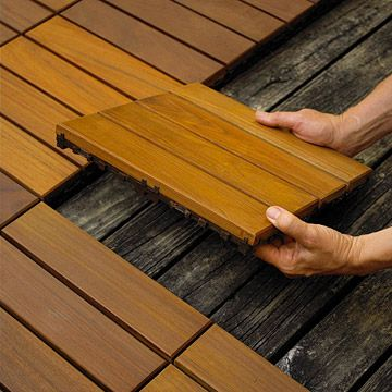 10 Easy-to-Install Decking Tiles Updating your deck or patio is a snap with these easy-to-install decking tiles.