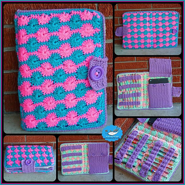 """Ravelry: AsUWishCrafts' """"Hook Around the World"""" Crochet Hook and Tablet Case"""