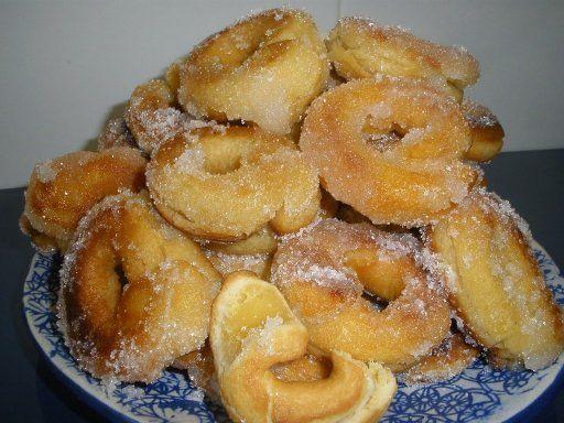 Rosquillas con masa de flan