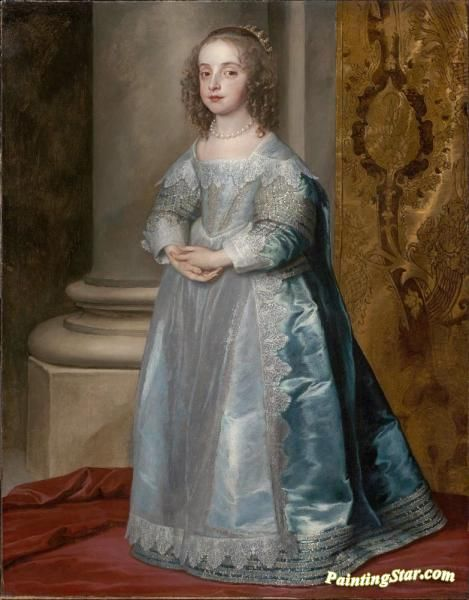 Princess mary, daughter of charles i Artwork by Anthony van Dyck Hand-painted and Art Prints on canvas for sale,you can custom the size and frame