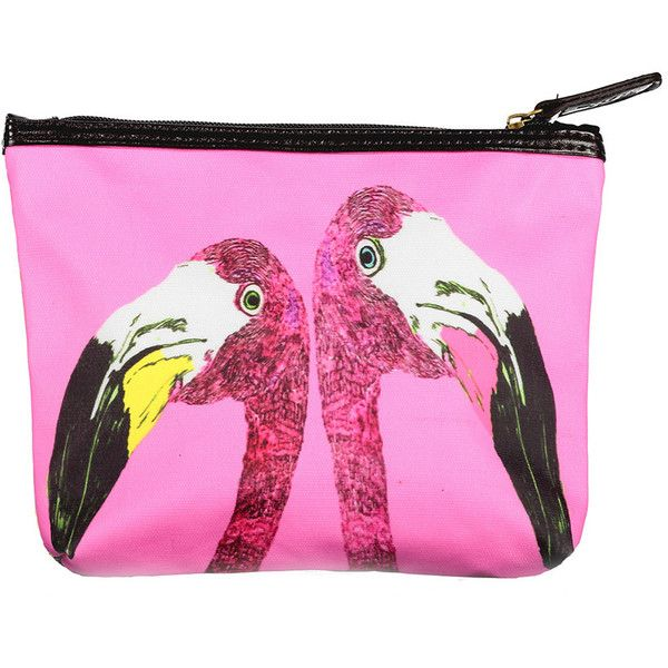 Jessica Russell Flint Loved Up Flamingo Make-Up Bag found on Polyvore featuring beauty products, beauty accessories, bags & cases, pink, makeup purse, cosmetic bag, makeup bag case, make up bag and toiletry bag