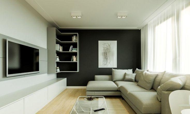 Der Fernseher An Wand Montiert Kann Optisch Zu Einem Eleganten Raumobjekt Werden Nach Sofaposition Ist Richtige Platz Fr Den Die Zweitw