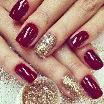 Lemonade Glitter Dazzling Nails Kit Dark Red
