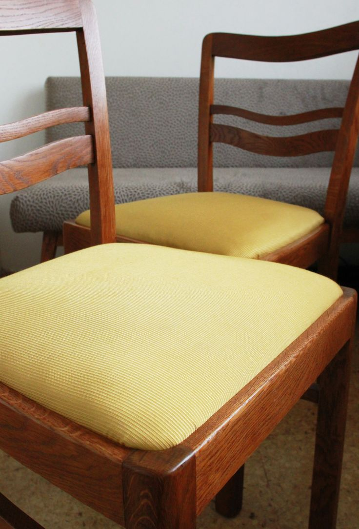 Completely renovated oak chairs.  Fabric by Saum & Viebahn.   Made by Full SIze Interior.