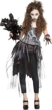 Girls Zombie Prom Queen Costume - Party City