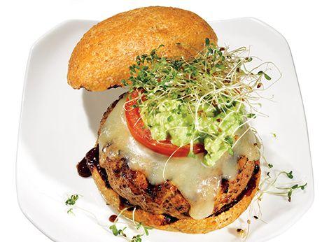 Avocado-Alfalfa Turkey Burger