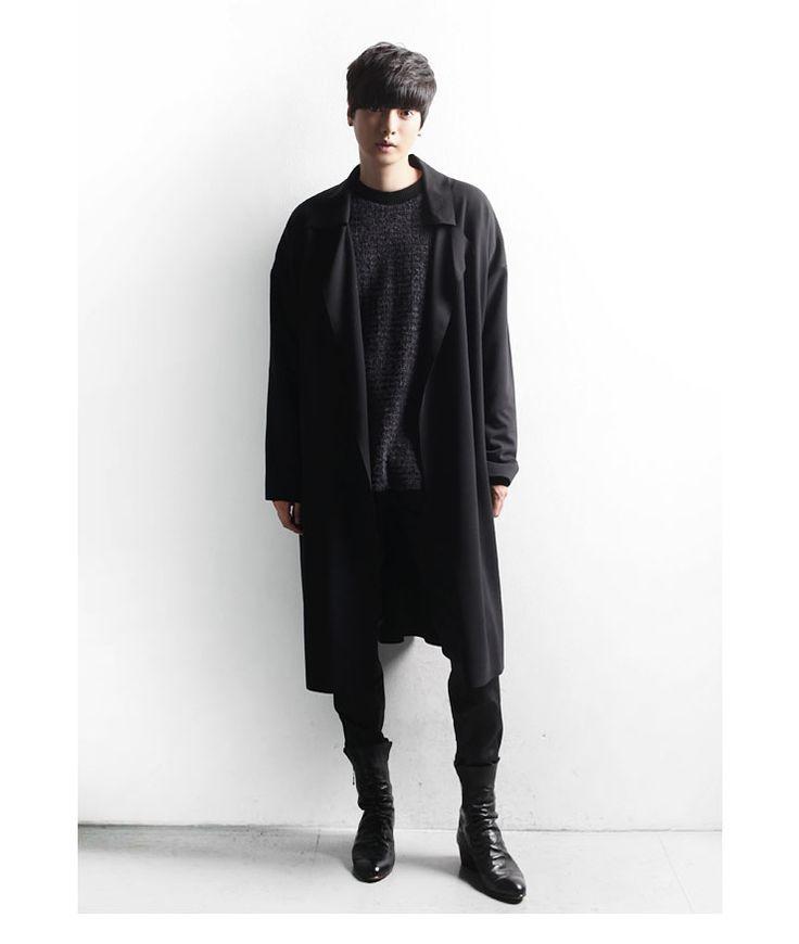 minsobi | Rakuten Global Market: Any so-called men drape Cardigan men's long coat men's oversize coat men's fall jackets autumn Cardigan Cardigan Cardigan coat outerwear mens coat men's