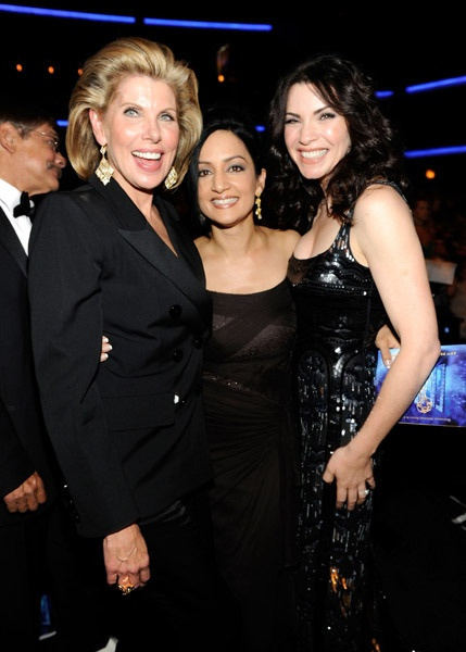 Christine Baranski, Archie Panjabi, and Julianna Margulies.  LOVE The Good Wife!  Great writing, great characters, and Calinda kicks ass!