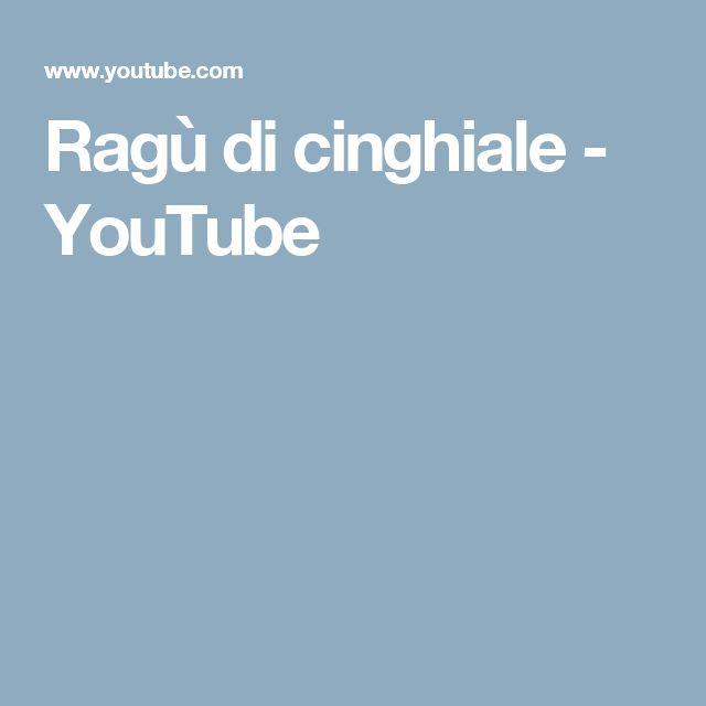 Ragù di cinghiale - YouTube