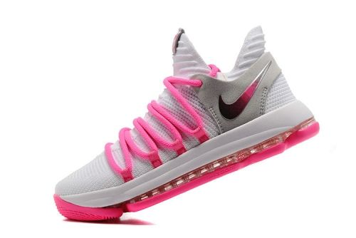 2018 Where To Buy KD 10 Nike Zoom EP White Baby Pink 897816 200 Kevin  Durant Mens Basketball Shoes 5ba82d52b