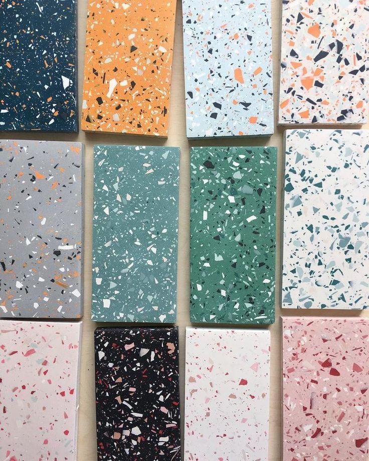 TROPICAL GLAM BATHROOM UPGRADE PLANS Terrazzo tile
