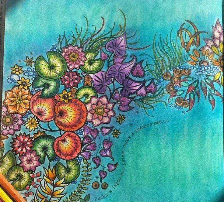 Flowers With A Frog Secret Garden Flores Com Sapo Jardim Secreto Johanna