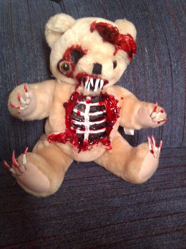 Zombie Teddy Bear Zombie Baby Halloween Haunted House Prop | eBay