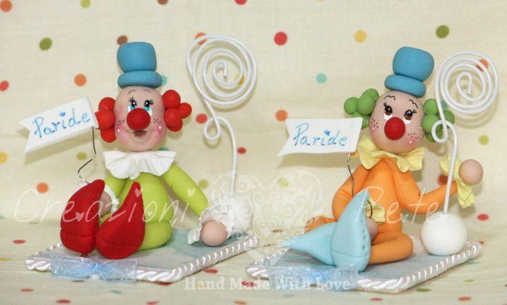 Clown bomboniere battesimo bimbo Pagliaccio bomboniere battesimo comunione nascita bimbo bomboniere artigianali
