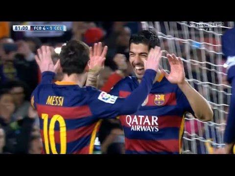 Luis Suarez Goal Gol Messi Pass - Barcelona vs Celta Vigo 6-1 (La Liga) ...