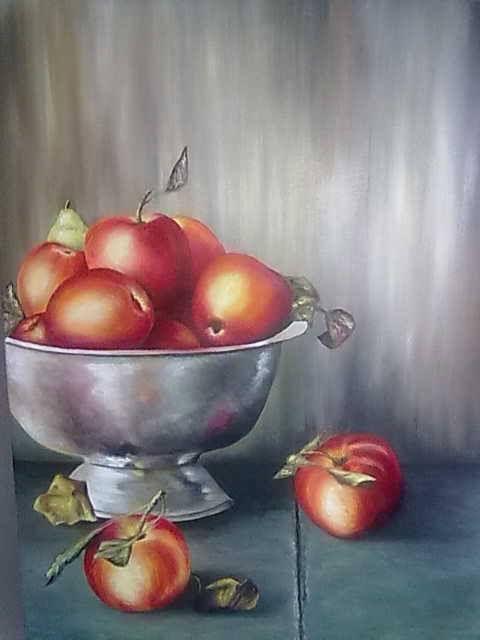 """""""manzanas"""" óleo  60×80"""