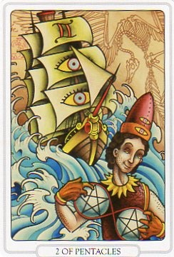 Two Of Pentacles From Tarot The Tattoo Age