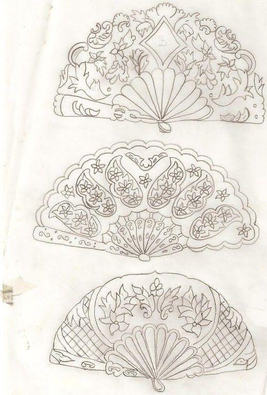 Esta o abanicos en blanco y negro pinterest esta o for Embroidery office design version 7 5