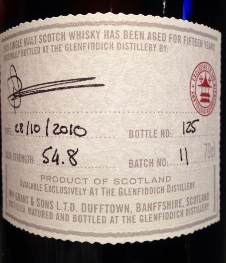 Glenfiddich 15yo 54.8% (hand-filled at distillery)