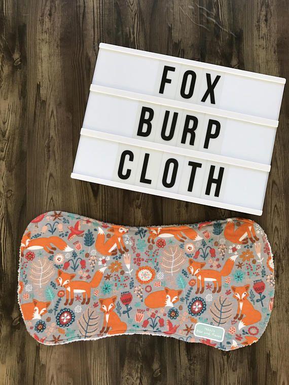 Handmade Fox Burp Cloth