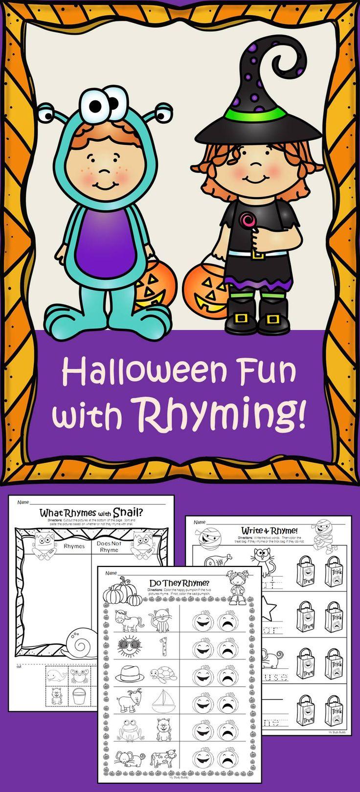 Halloween Rhyming - Kindergarten Literacy