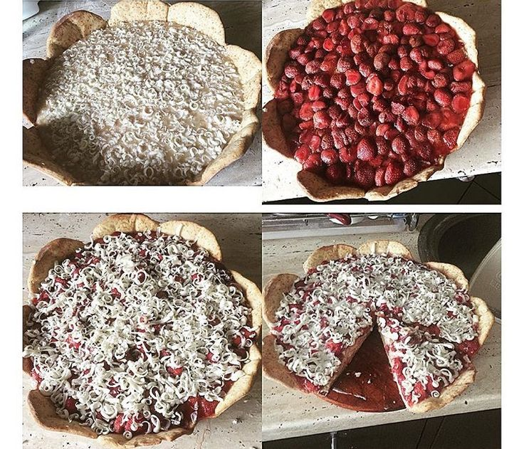 Sweet pizza with strawberries