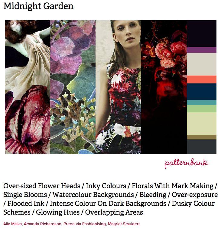 Midnight garden, print forecast by Patternbank, http://patternbank.com/premiere-vision-indigo-autumn-winter-2013-14-trend-report-preview/