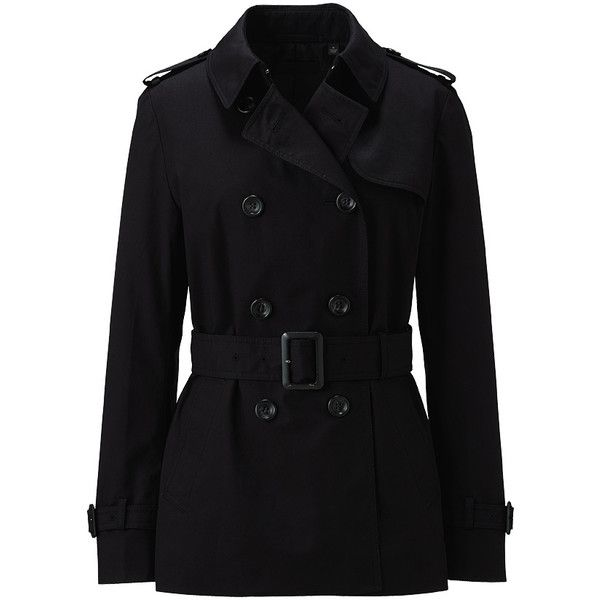 Women Short Trench Coat A ($79) ❤ liked on Polyvore