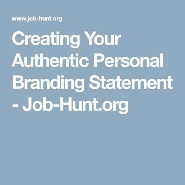 The  Best Personal Brand Statement Ideas On   Vision