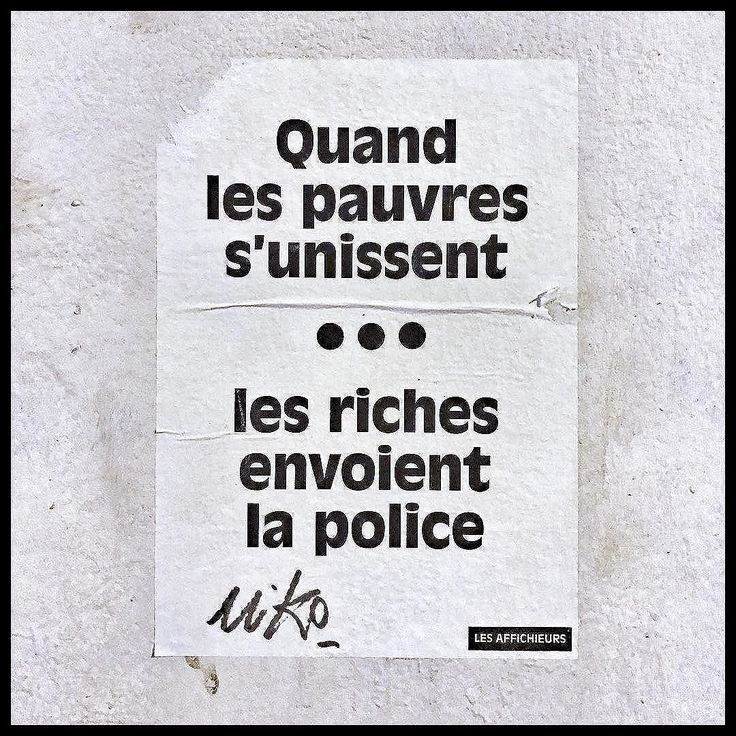 Quand les #pauvres s'unissent ... Les riches envoient la #police. [When the #poor unite ... The rich send the police] #G20 #G20Hamburg #Hamburg #Hambourg #G20HAM17 #G20Summit #G20HAM #g20protest #G20Germany  #message #graffiti #politics #election #truth #wall #city #urban #LesAffichieurs #Paris #France #iPhonephotography #macron #democracyMyAss