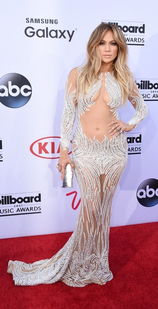 Jennifer Lopez wore a revealing sheer dress at the Billboard Music Awards 2015