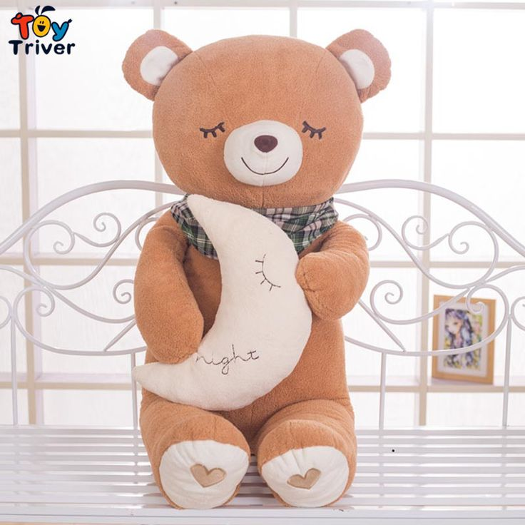 $16.99!Hot sale pink brown bear stuffed toys plush doll birthday Day gift for baby kids children girlfriend present sleeping bear Triver Toy