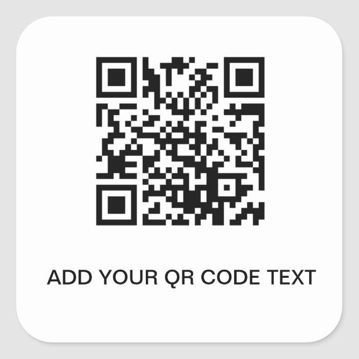 Qr Code Store Template Square Sticker Zazzle Com In 2021 Coding Qr Code Sticker Custom Stickers