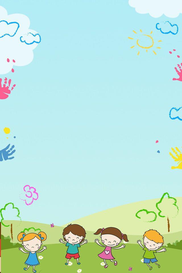 طفل بسيط يلعب العشب الخلفية Kids Grass Kids Background Art Drawings For Kids