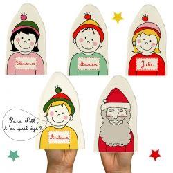 Kit marionnettes personnalisables Père Noël