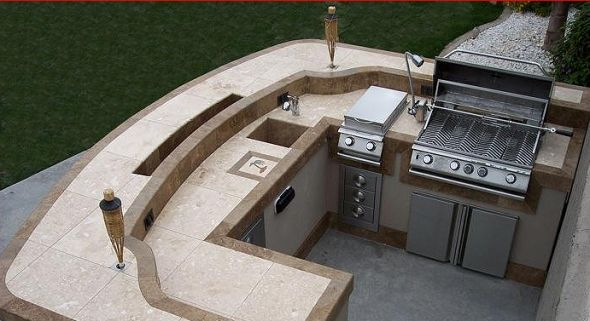 Modern bbq islands have clean all purpose designs that for Outdoor grill island ideas