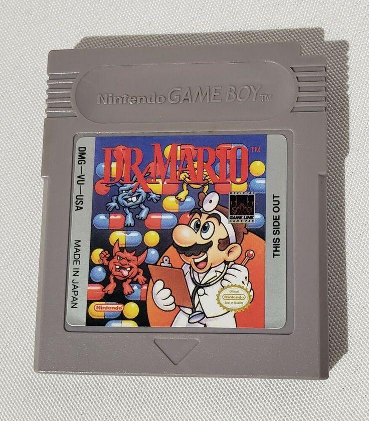 Dr. Mario (Nintendo Game Boy, 1990) in 2020 Old nintendo