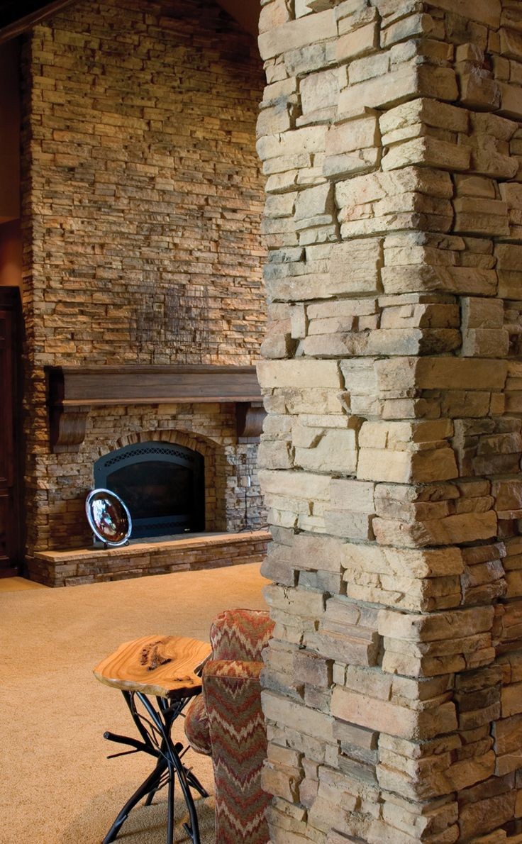 Faux Stone Panels  Timber Ledge Stone  Basements  Stone veneer fireplace Decorative stone