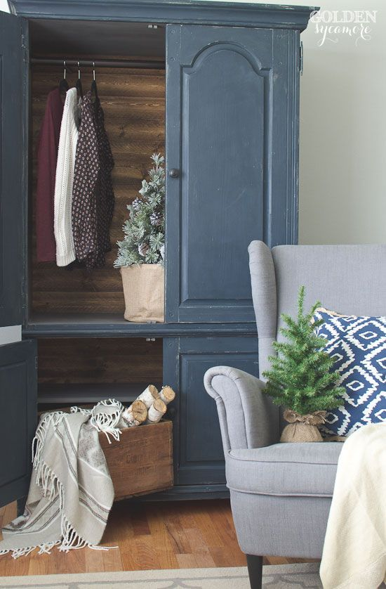 Rustic Armoire Makeover - The Golden Sycamore