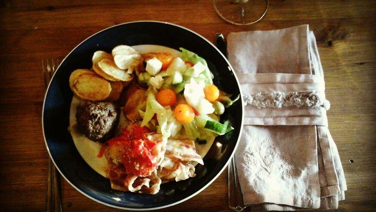 Rustic food in Kuusamo cottage