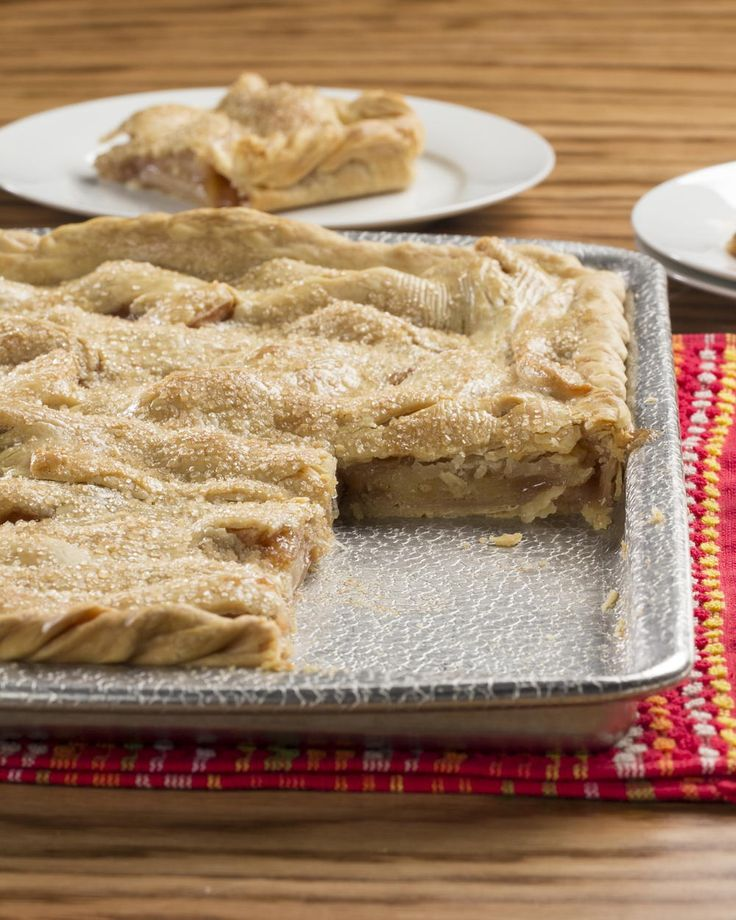 Apple Slab Pie | MrFood.com - this filling is the bomb  I use this filling w/ Martha Stewart's pie crust.