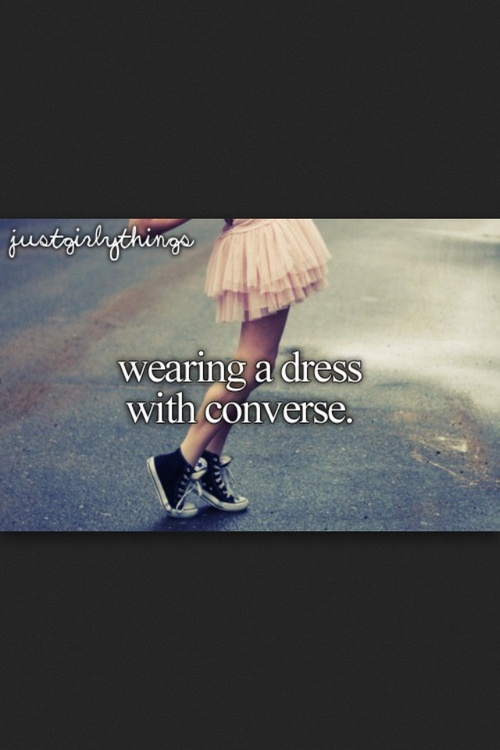 I would love to do this.  My goal is to find converse and a denim jacket to wear with my blue dress, then to wear it ALL THE TIME! :)